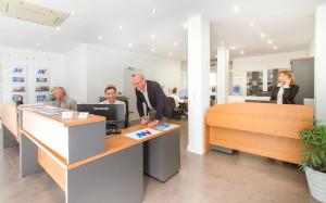 Team photo in Altea Moraira Villas office of real estate agents in Altea